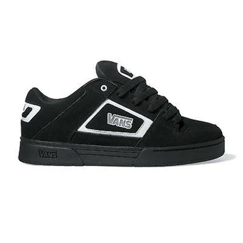 254329bfdb5e Details about Vans - Kids Bushnell Trainers Black White Black UK1.5