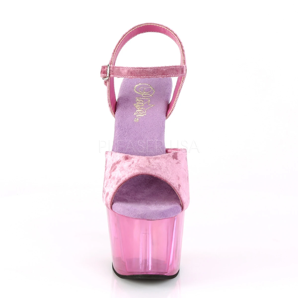 32895f00b8b Pleaser Shoes ADORE-709 Purple Velvet 7 Inch Platform Heel Pole ...