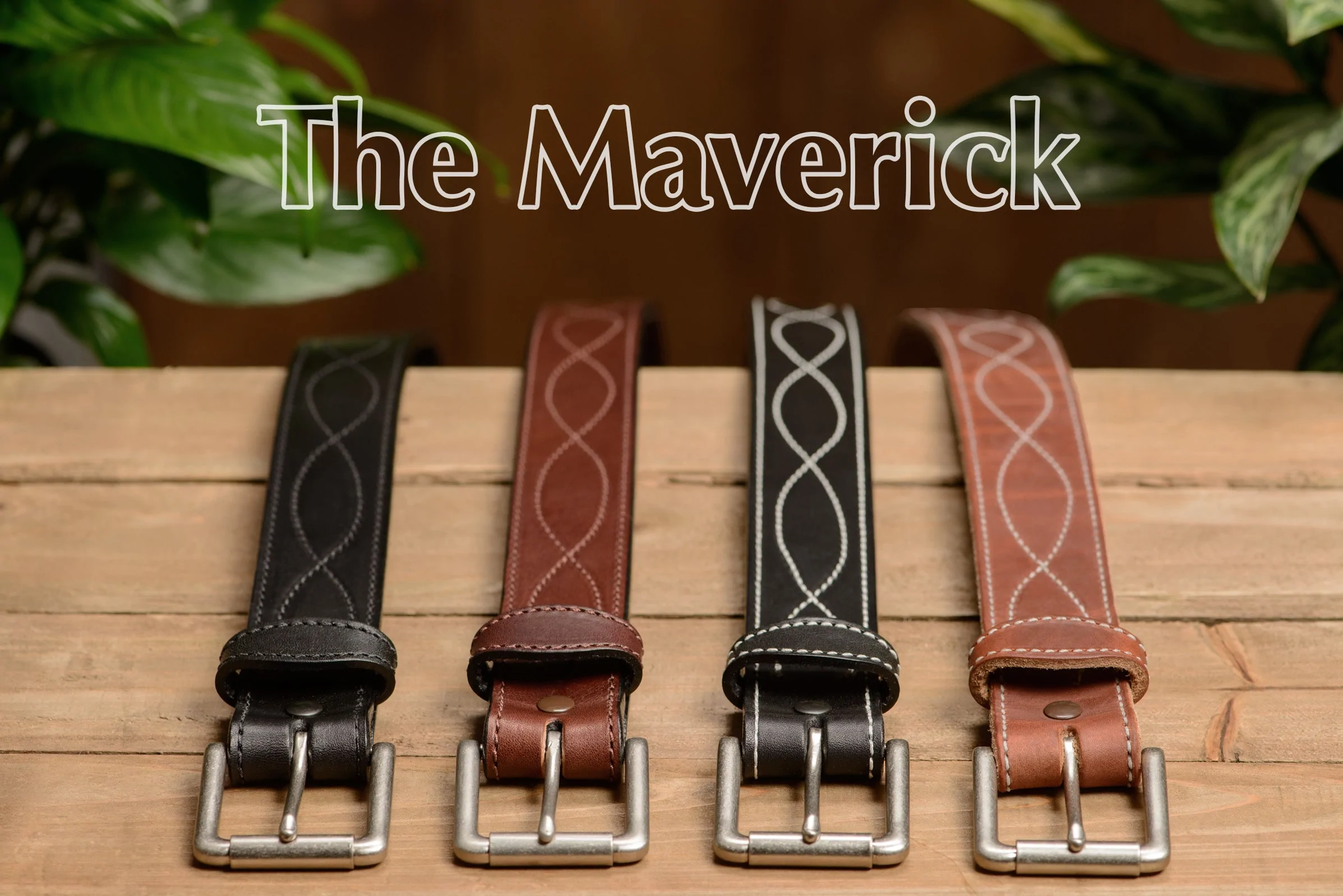 Hot Dipped Tan Figure 8 Stitched Mechanics Buckle-less Belt Quality USA Handcraf