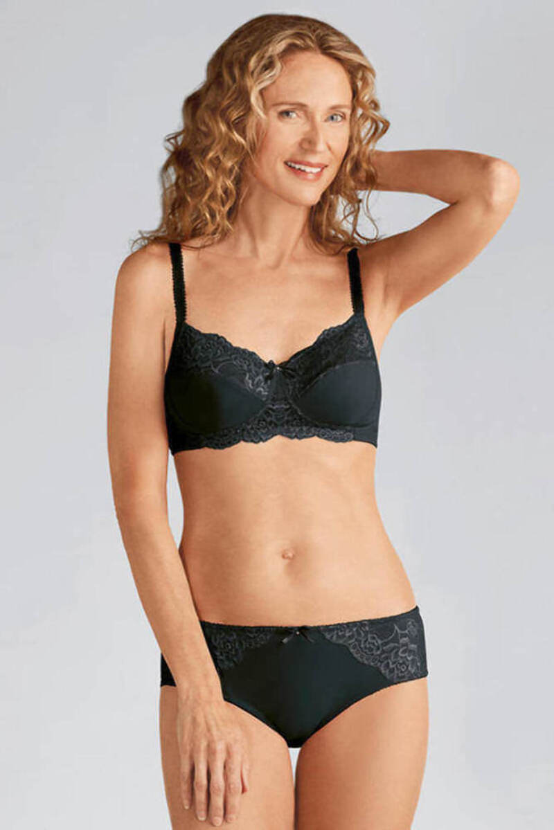 usa cheap sale outlet store sale top design Details about NEW Amoena Lilly Padded Non-Wired Bra black 44209