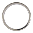 Click for larger image of Titanium Wedding Ring - Half-round - Polished Finish - Width: 3mm