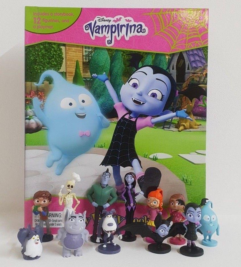 10 New Disney Vampirina Cake Toppers plus Playmat /& Story