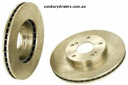 Mitsubishi Magna BRAKE DISCS rear TM TN sedan Models 1985 to 1991 dr222x2