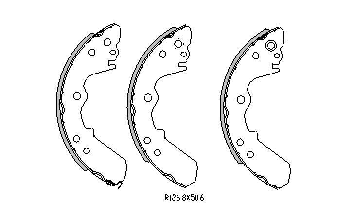 Holden RODEO BRAKE SHOES rear TF Models 11/1996 to 10/2002 254MM DRUM R1662