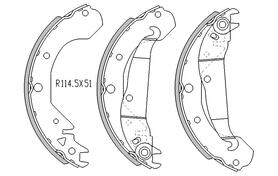 Holden COMBO BRAKE SHOES rear SB Van 2/1996 to 2002  R1732