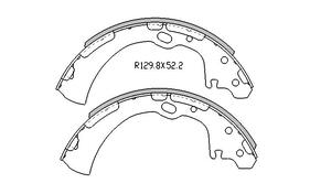 Nissan PATHFINDER BRAKE SHOES rear WD21 Models  9/1989 to 8/1995 260MM DRUM R1657
