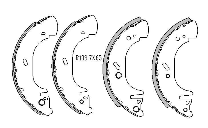 Ford Transit BRAKE SHOES rear VE , VF Models 8/1991 On 280MM DRUM R1737