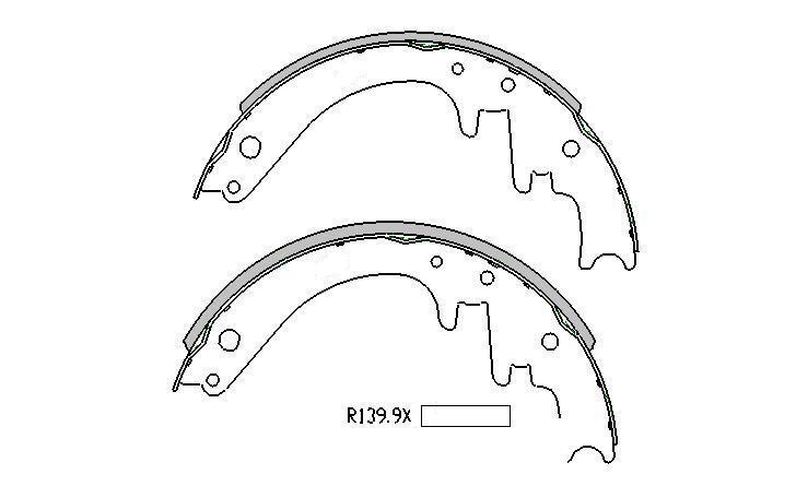 Ford F100 BRAKE SHOES FRONT 1968 to 1972 r1349