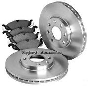 Ford Courier Raider BRAKE DISCS & PADS 4x4 front PG PH 2004 to 11/2006 MANUAL 4x4 HUBS  dr7953/db1366