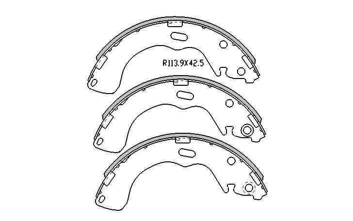 Ford Escape BRAKE SHOES rear 2001 to 2005 r1791