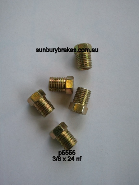 Brake Tube nuts 3/8 x 24NF SHORT suit 3/16 Pipe x5    p5555