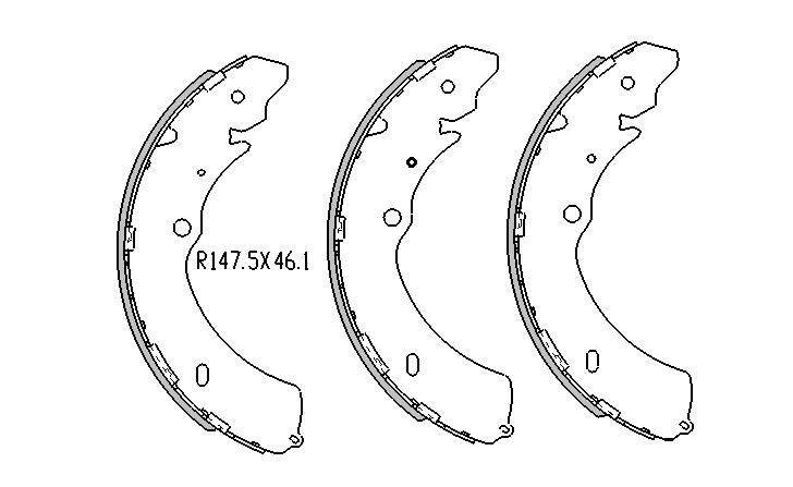 Holden RODEO BRAKE SHOES rear RA RB Models 11/2002 to 2007 295mm DRUM  R1793