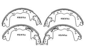Ford F350  BRAKE SHOES rear 1973 to 1998 305MM DRUM R1018