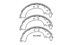 Toyota CAMRY BRAKE SHOES rear SV20 , SV21 Models 5/1987 to 2/1993 R1659