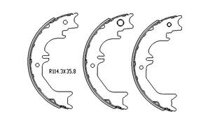 Toyota LANDCRUISER HAND BRAKE SHOES  80 Series HDJ80 , HZJ80 1/1992 to 1998 R1745