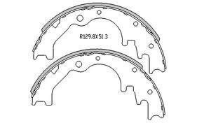 Ford COURIER BRAKE SHOES rear 4x2 & 4x4 Models 1993 to 10/1998 R1665