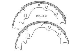 Ford COURIER BRAKE SHOES rear 4x2 & 4x4 Models 1985 to 1993 R1587