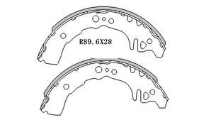 Toyota ECHO BRAKE SHOES rear 1999 to 2006 R1772