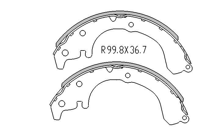 Toyota COROLLA BRAKE SHOES rear AE90 AE92 AE93 AE94 1986