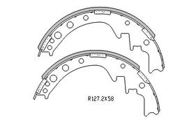 Toyota HIACE BRAKE SHOES rear YH , LH Models 1983 to 1989  R1405