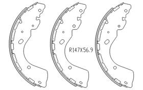 Nissan NAVARA BRAKE SHOES rear D40 Models  4x4 , 4x2 2007 On r2016