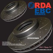 Holden Commodore SLOTTED BRAKE DISCS front  VT VX VY VZ  Models 1998 on HSV RDA48D 330MM x2