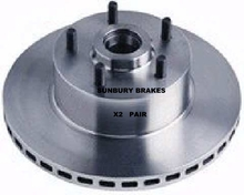 Holden Commodore VP V8 front brake discs 1990 to 1992 no ABS dr17x2