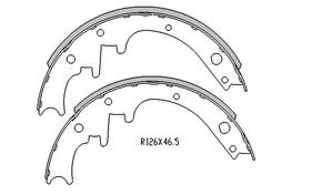 Ford Falcon BRAKE SHOES rear 1966 to 10/1975 R1271