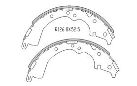 Toyota HILUX BRAKE SHOES rear TGN  KUN Models 4/2005 On 254MM DRUM R1998