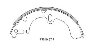 Toyota COROLLA BRAKE SHOES rear AE112 8/1998 Onwards  R1490