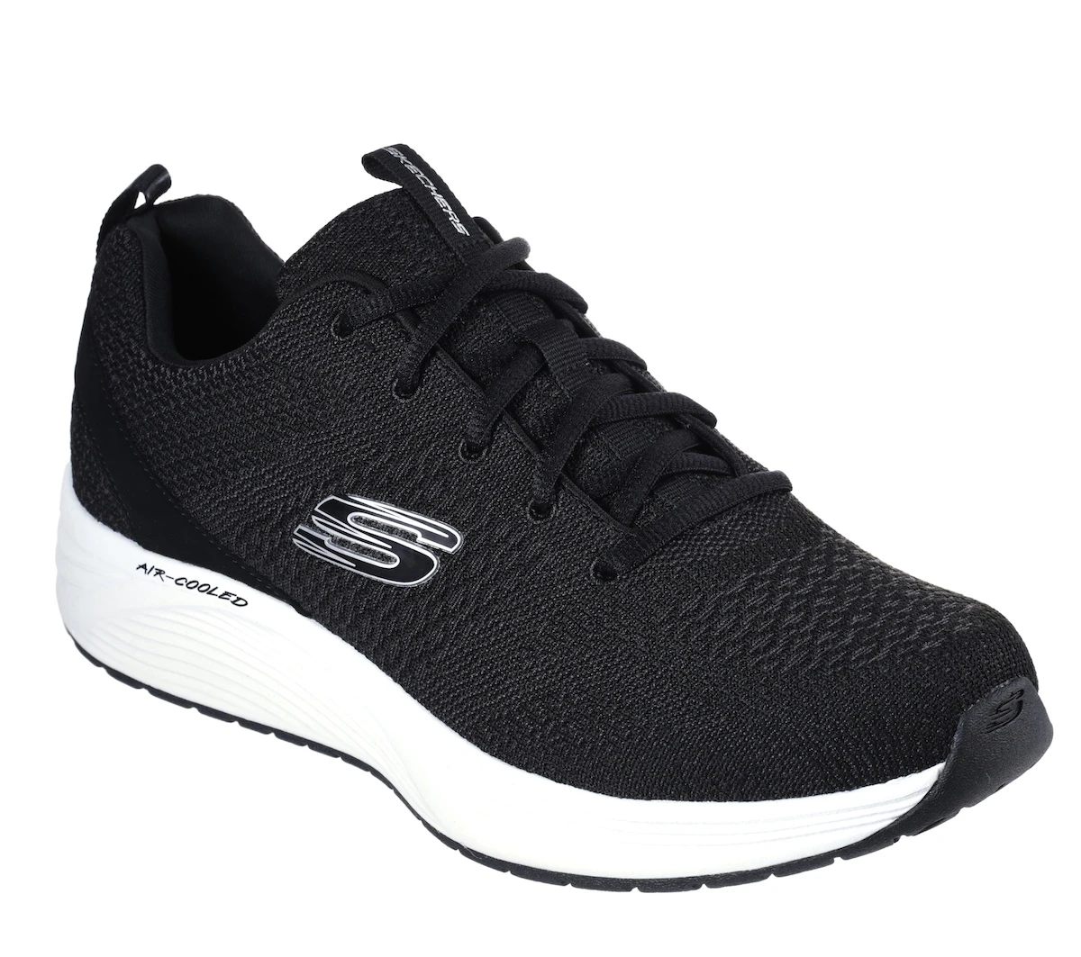 skechers black and white shoes