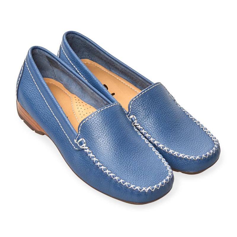 Van Dal Sanson Denim Leather Loafers | eBay