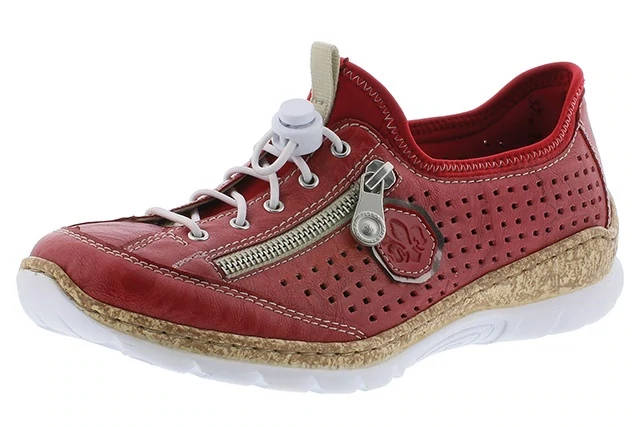 Rieker N4296-35 Ladies Red Slip On