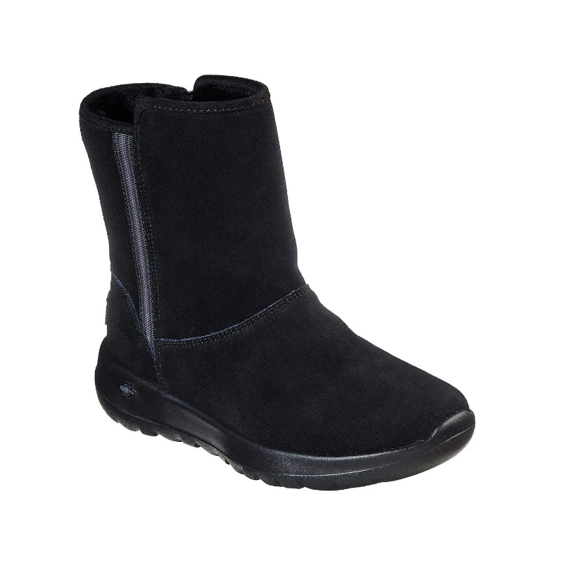 Details about Skechers 15526 On The Go Cadet Ladies Black Suede Ankle Boots