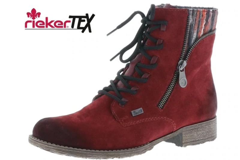 Z7130 35 Ladies Casual Ankle Boots WineGranite