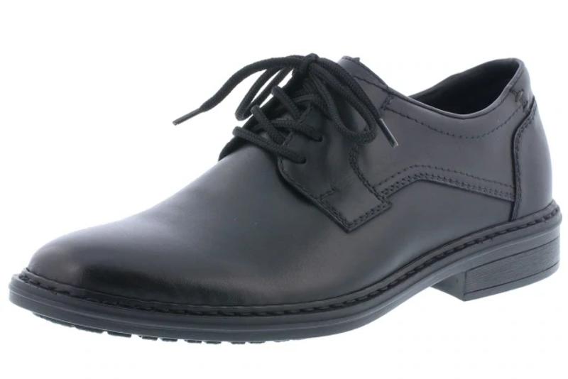Men's RIEKER B1422 Plain Toe Lace Dress Shoes in Tan