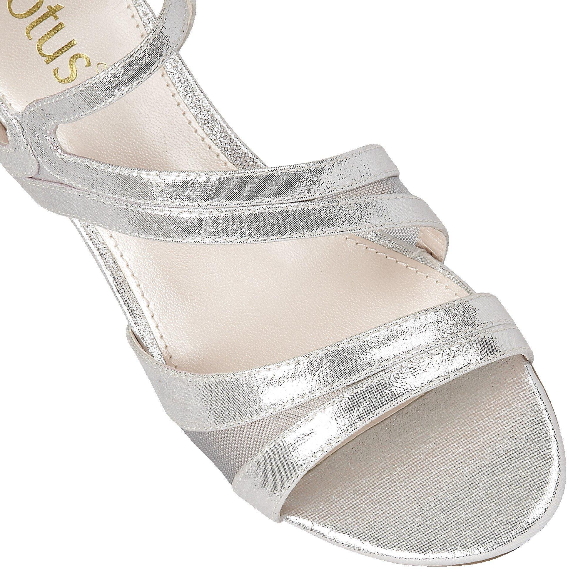 Lotus Shimmer Pumps Silver Desponia Evening Sandals wnOPvmN8y0