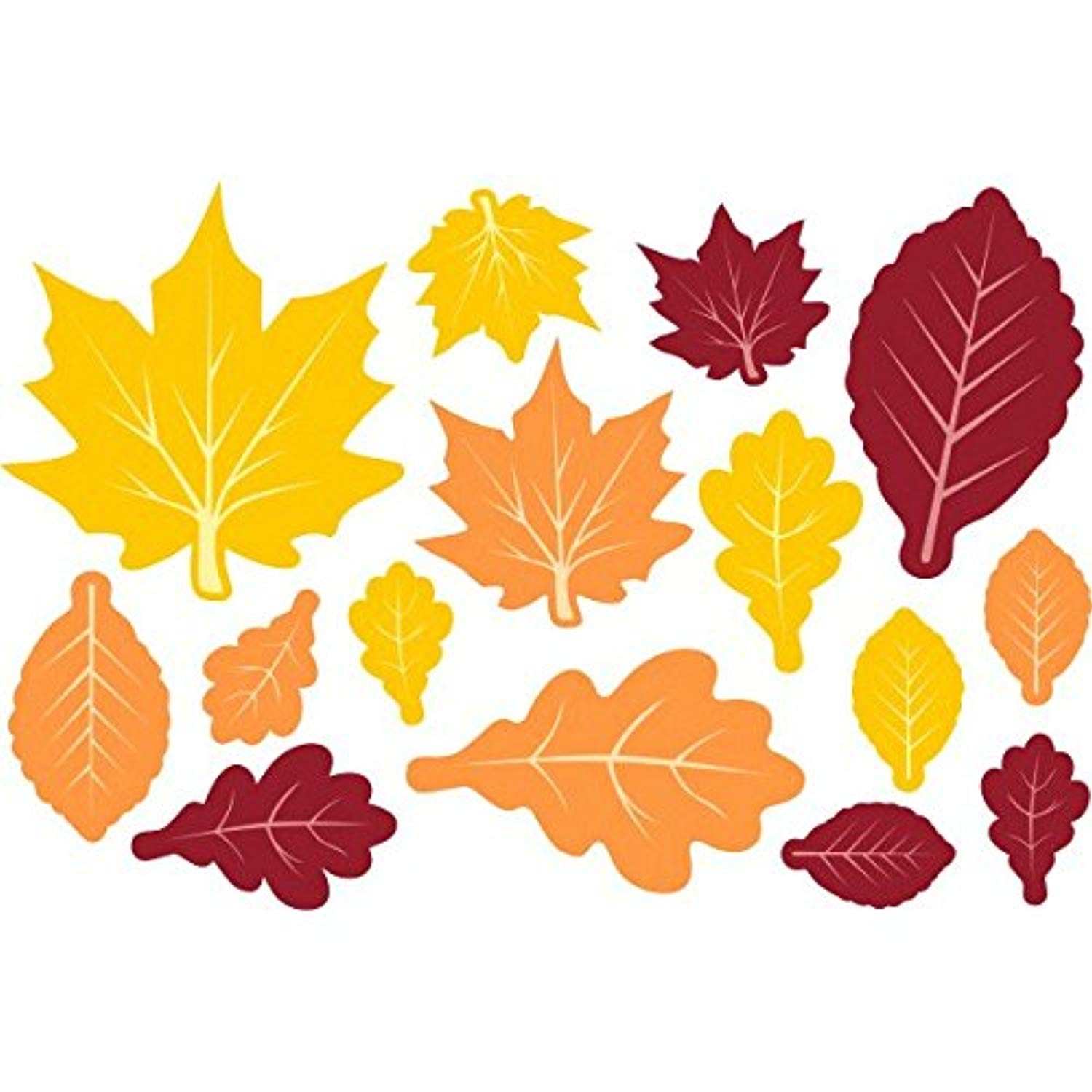 120 Paper Die Cut Maple Leaves of assorted bright colors