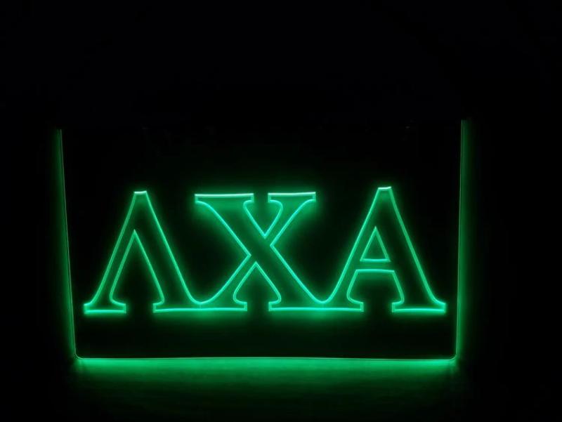 Alpha Sigma Phi LED Sign Greek Letter Fraternity Light