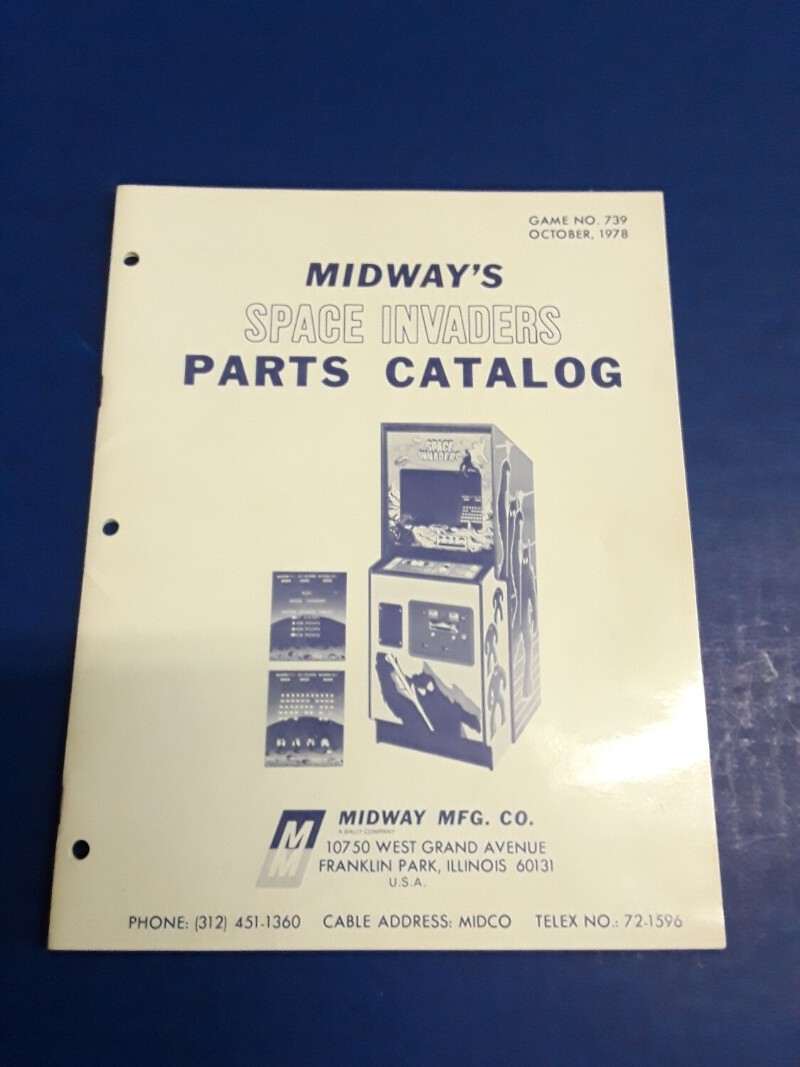 Details about Space Invaders Video Arcade Game Parts Catalog