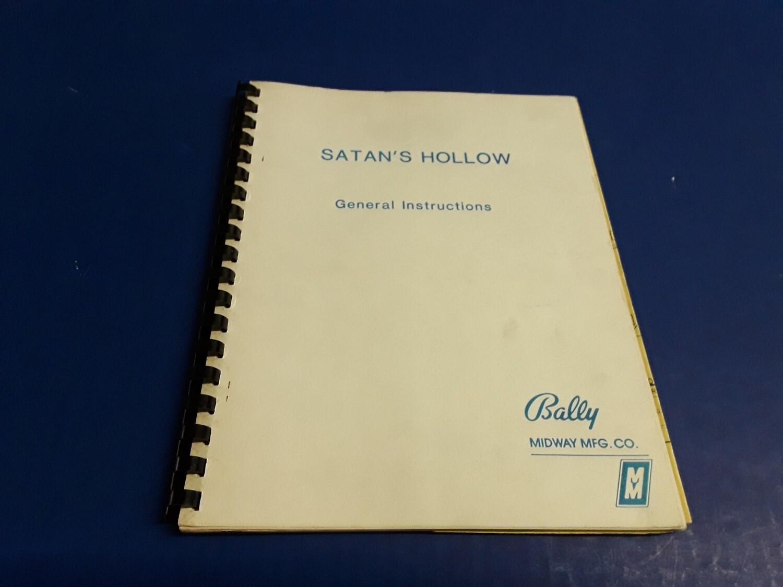 Satan/'s Hollow Video Arcade Game General Instructions /& Schematics Manual