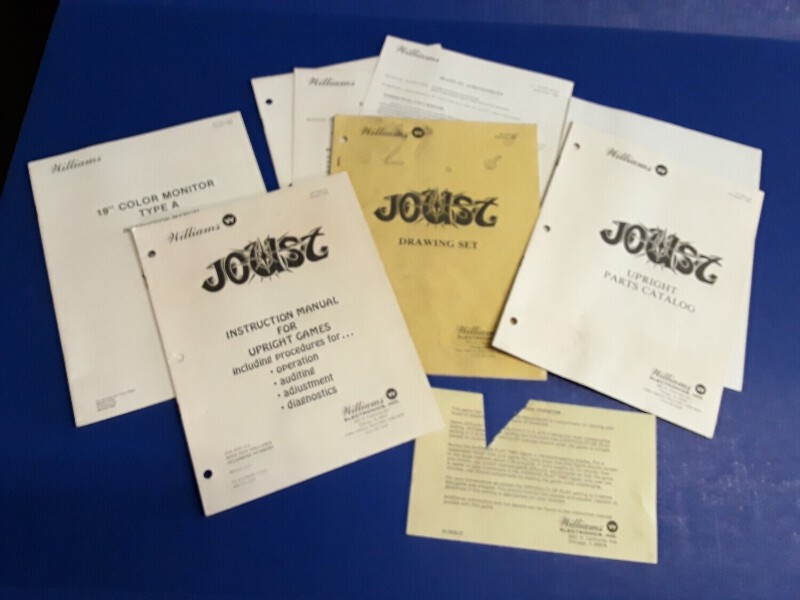 Details about Joust by Williams Video Arcade Game Instruction Manual &  Schematics Package