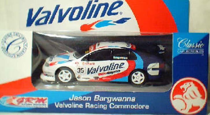 1:43 Classic Carlectables 1035-2 Jason Bargwanna Valvoline Racing Commodore