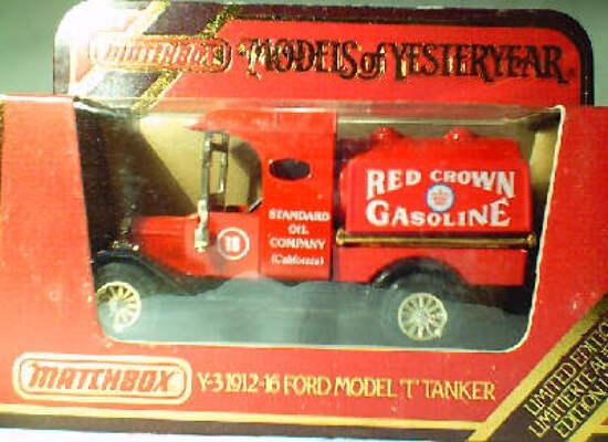 Y3 Model T Tanker - Red Crown