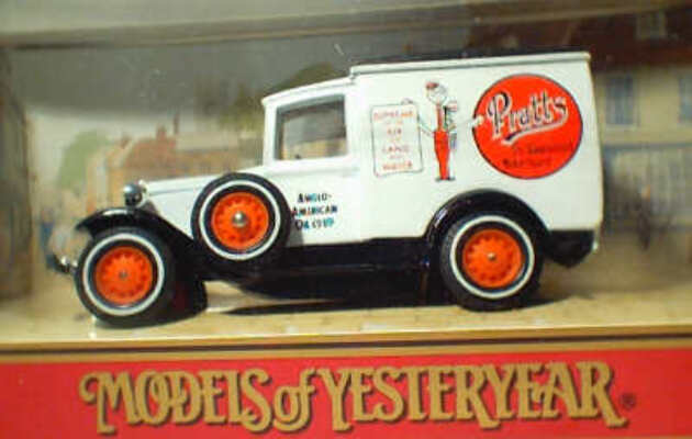 Y22-1 1930 Model A Ford Van - Pratts Motor Spirit  ( damaged box)