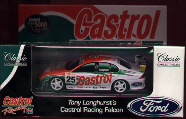 1:43 Classic Carlectables 2025-1 Tony Longhurst Castrol Falcon