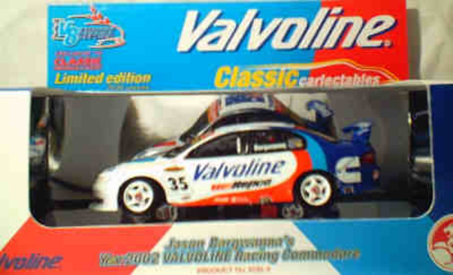 1:43 Classic Carlectables 1035-3 Jason Bargwana 2002 Valvoline Commodore