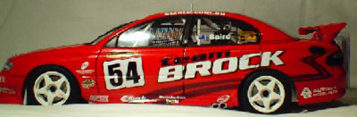 1:18 Biante #54 Team Brock Craig Baird - Red