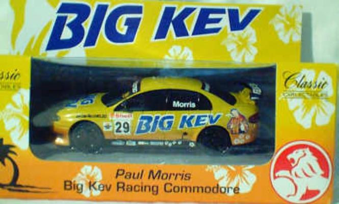 1:43 Classic Carlectables 1029 Paul Morris Big Kev Racing Commodore