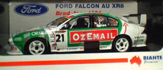 1:18 Biante 2002 OzeMail Au XR8 Falcon Brad Jones